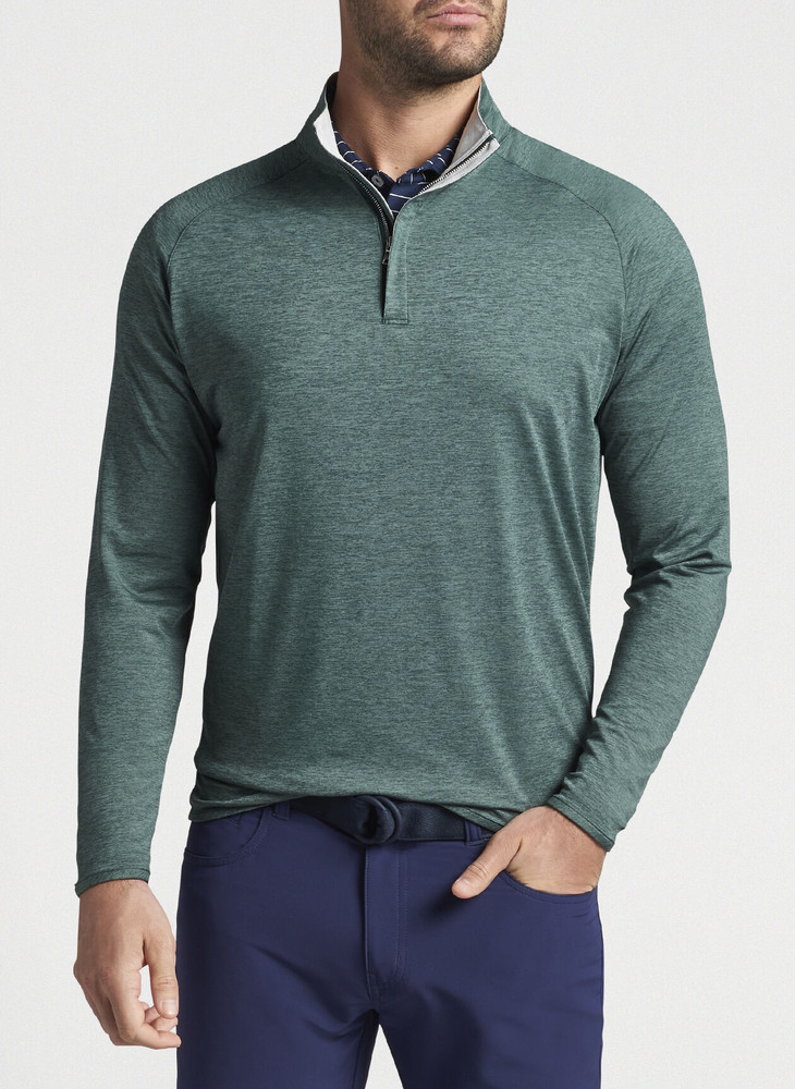 Stealth Performance Quarter-Zip in Nordic Pine by Peter Millar