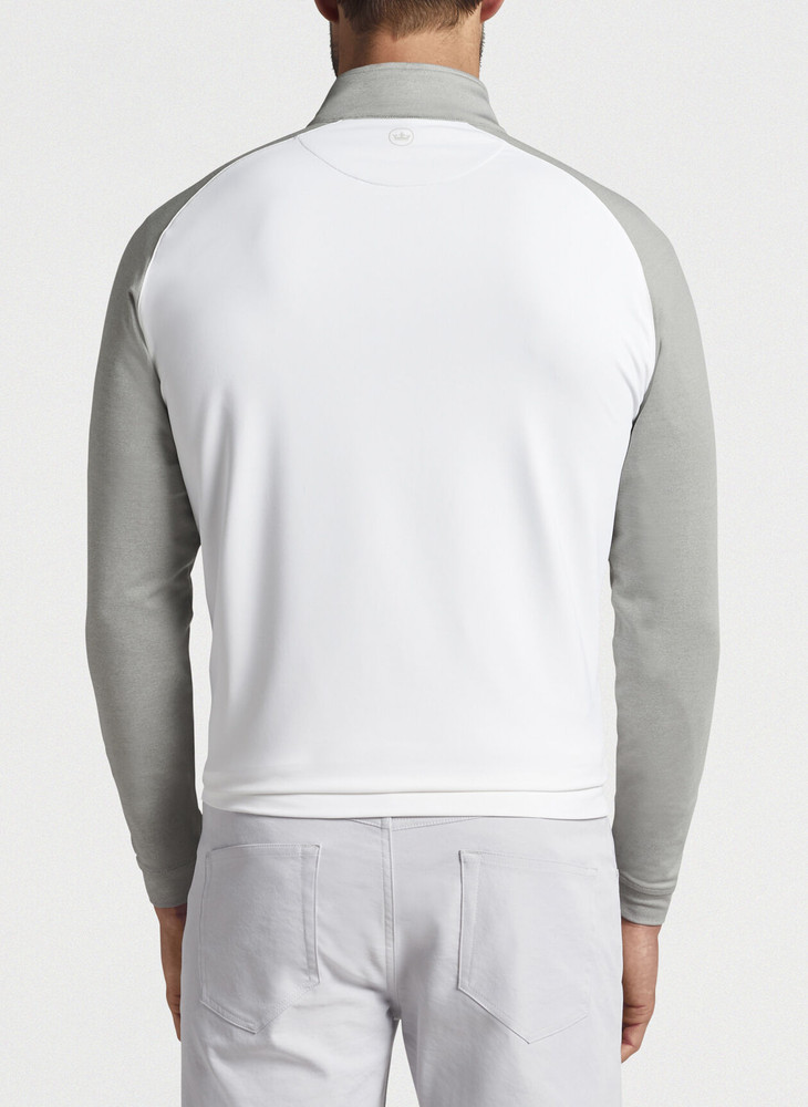 Perth Colorblock Performance Quarter-Zip in White by Peter Millar