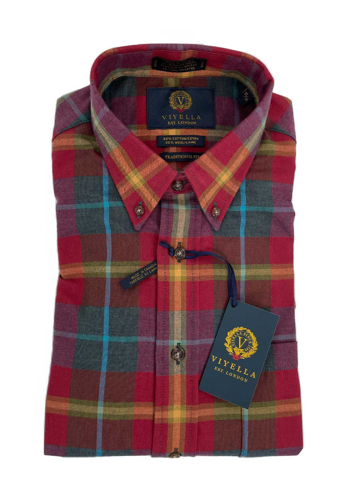 Fall Plaid Button-Down Sport Shirt in Classic Fit by Viyella
