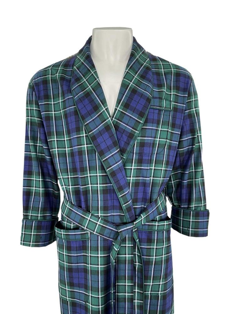 Gentleman's Genuine Cotton and Wool Blend Robe in Macallum by Viyella