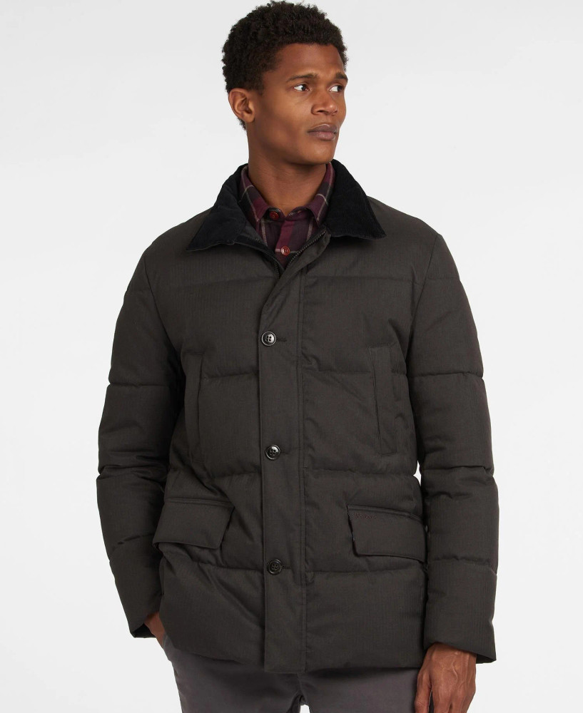 Kendle Quilted Jacket in Charcoal by Barbour