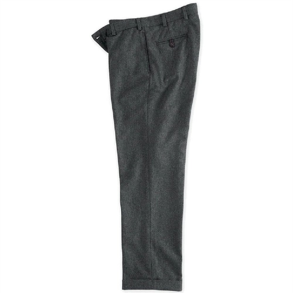 Herringbone Country Woolen Pants in Charcoal (Model M2) by Bills Khakis
