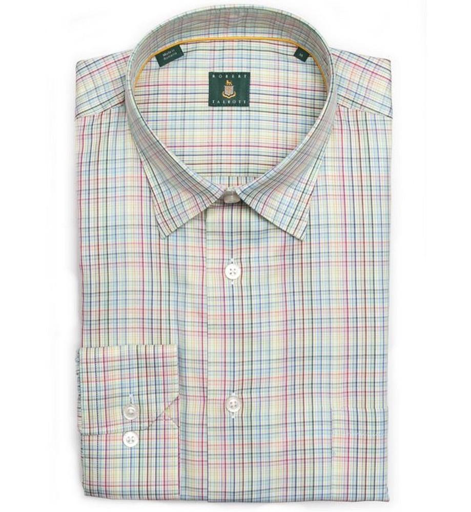 Citrus Multi Check 'Anderson' Sport Shirt by Robert Talbott