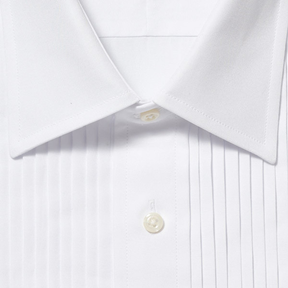 Ten Pleat Point Collar Formal Tuxedo Shirt by Gitman Brothers