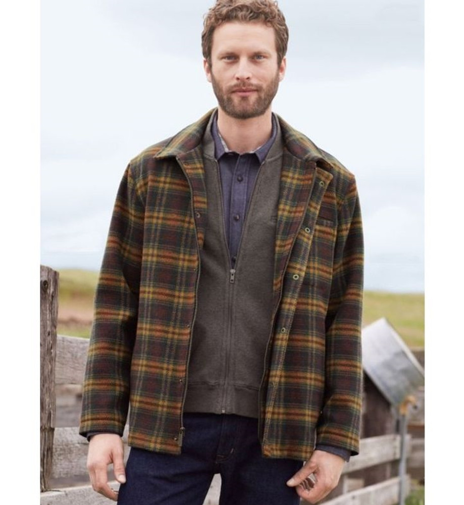 Brown and Copper Plaid Timberline Jacket (Size Medium) by Pendleton