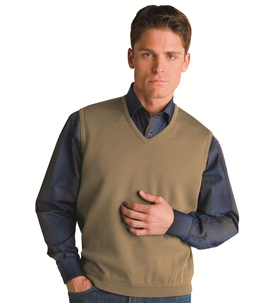 Classic Merino Wool Pullover Vest in Havana by St. Croix