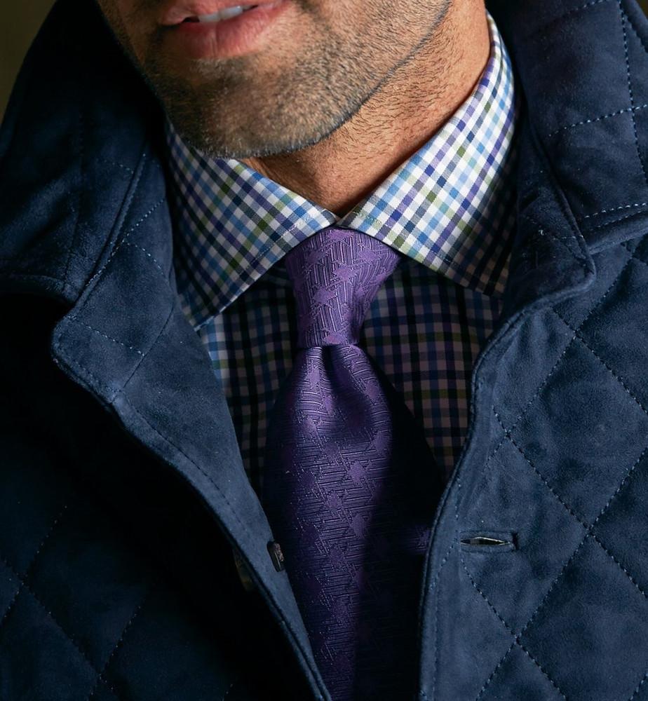 Purple, Green, and Blue Check Estate Sport Shirt by Robert Talbott