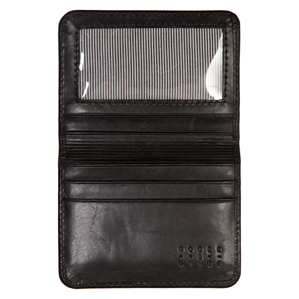 Card Wallet in Brompton Black by Moore & Giles