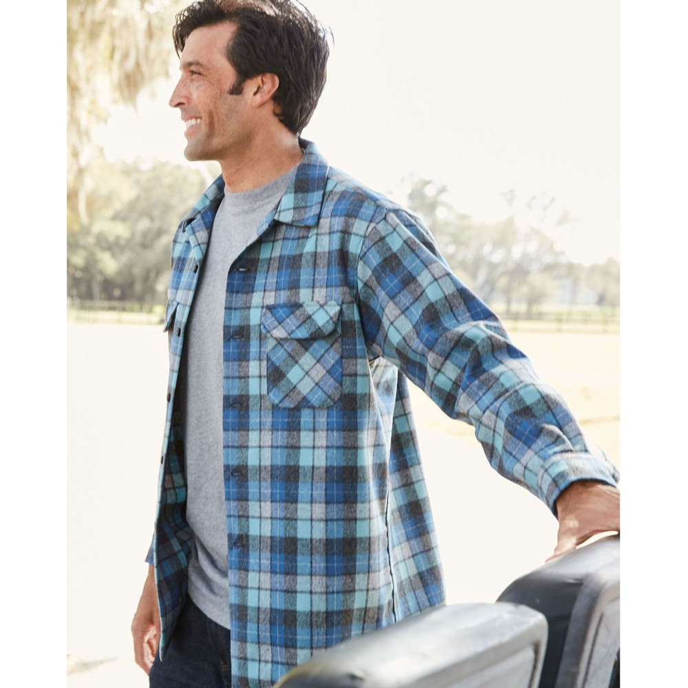 Original Beach Boys Plaid (Blue Original Surf Plaid) Board Shirt by Pendleton
