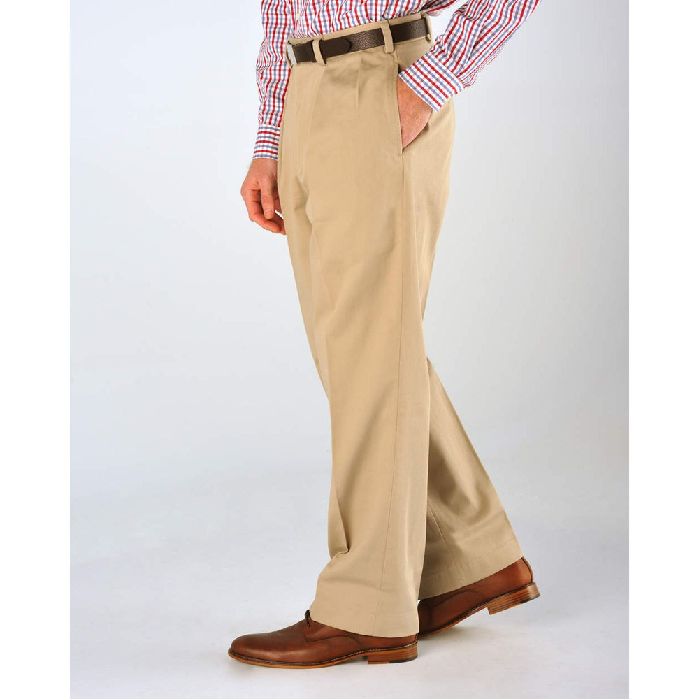Original Twill Pant - Model M1P Relaxed Fit Forward Pleat in Khaki by Bills Khakis