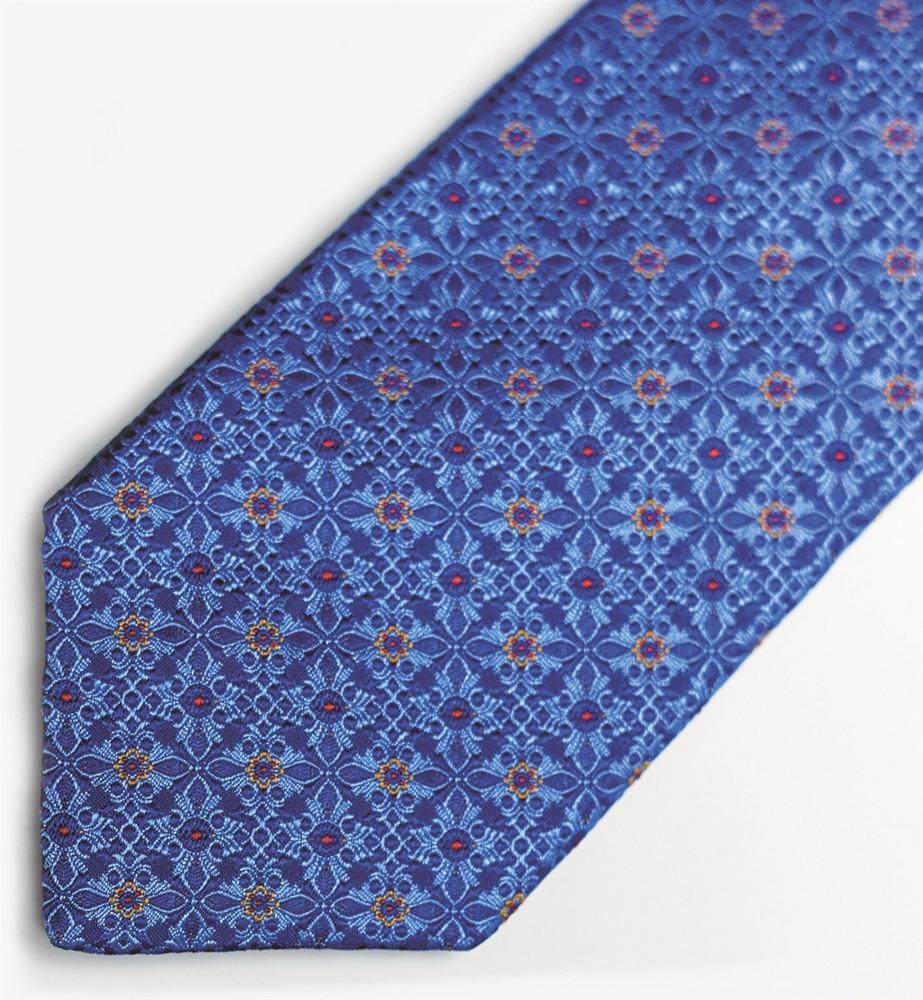 Blue 'Beach Club' Woven Silk Estate Tie by Robert Talbott