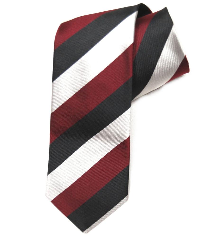 'Prince of Wales Volunteers' Regimental Stripe Tie by Gitman Brothers