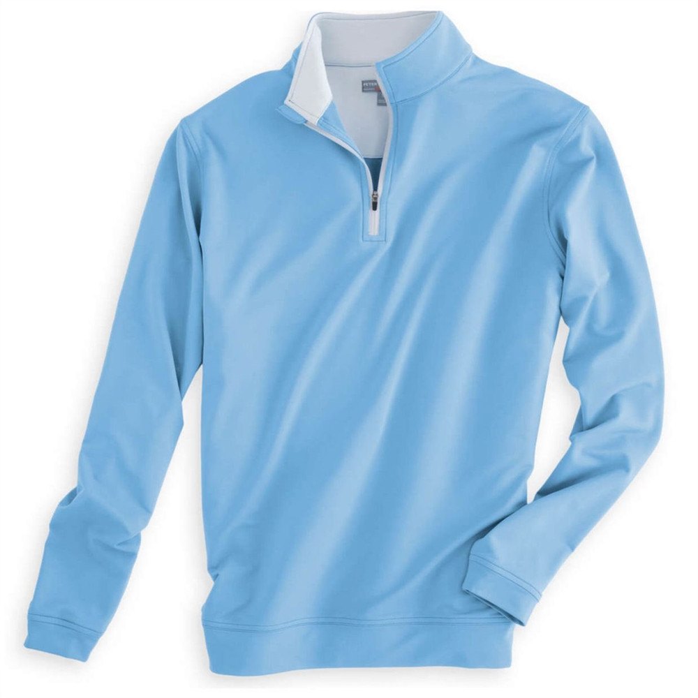 'Perth' Crown Sport Performance Pullover in Cottage Blue by Peter Millar