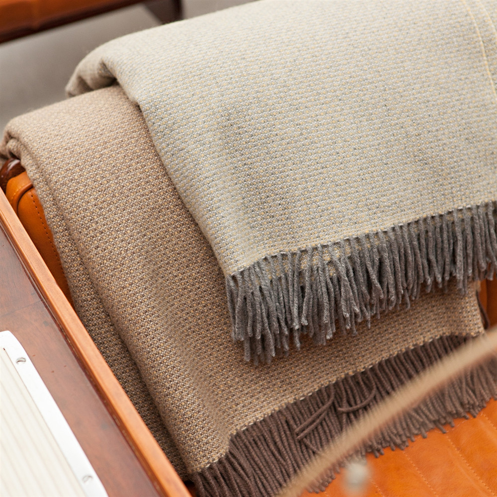 Merino Wool Blanket in Umber by Moore & Giles