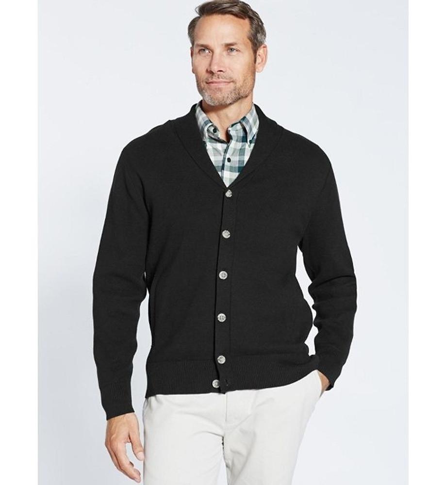 Shawl Collar Knit Cardigan Jacket in Black by Pendleton