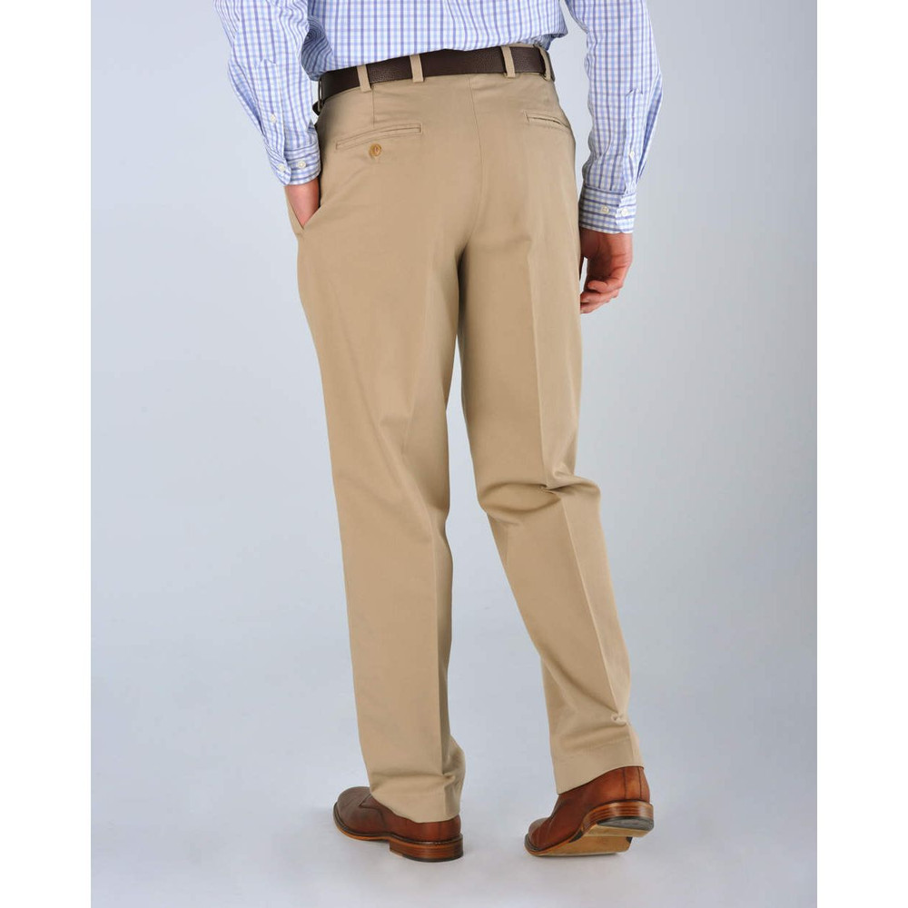 Original Twill Pant - Model M2P Standard Fit Reverse Pleat in British Khaki by Bills Khakis