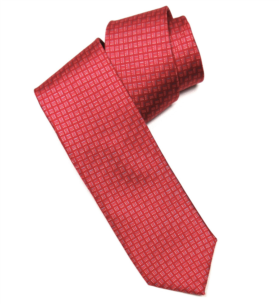 'Vogue' Printed Silk Tie in Red by RVR Neckwear
