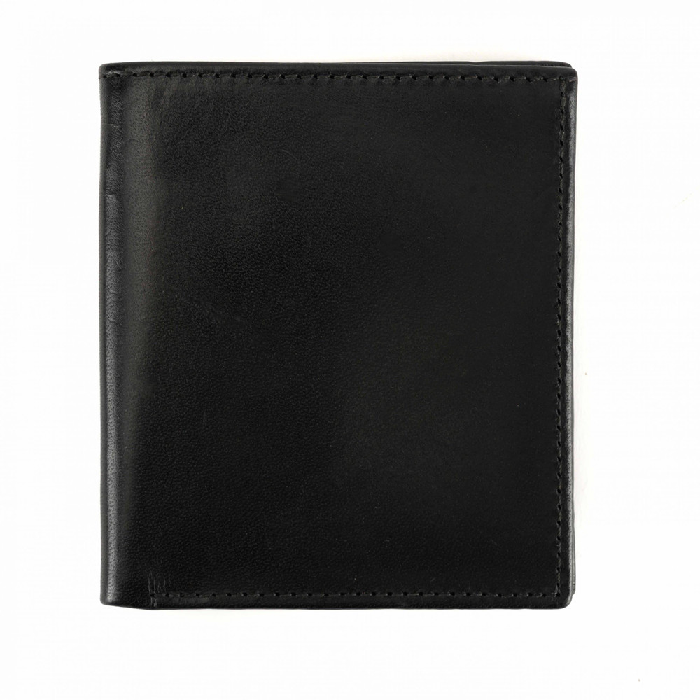 Compact Wallet in Brompton Black by Moore & Giles