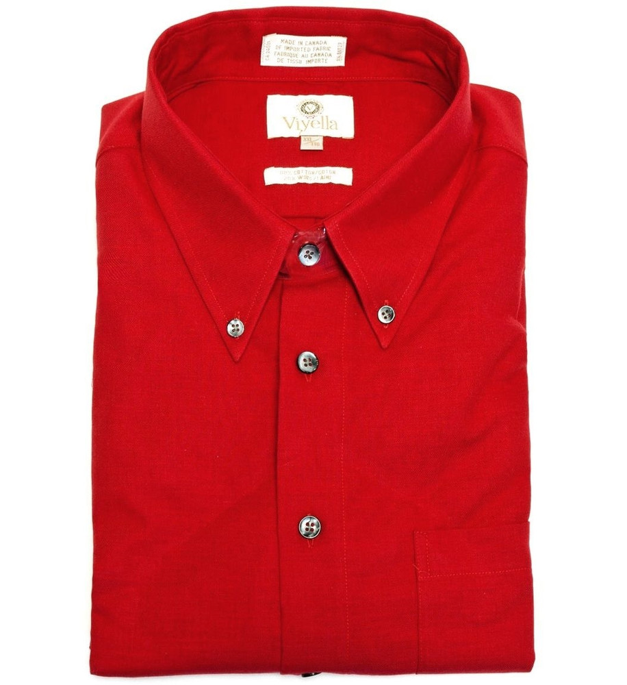 Red Button-Down Shirt by Viyella