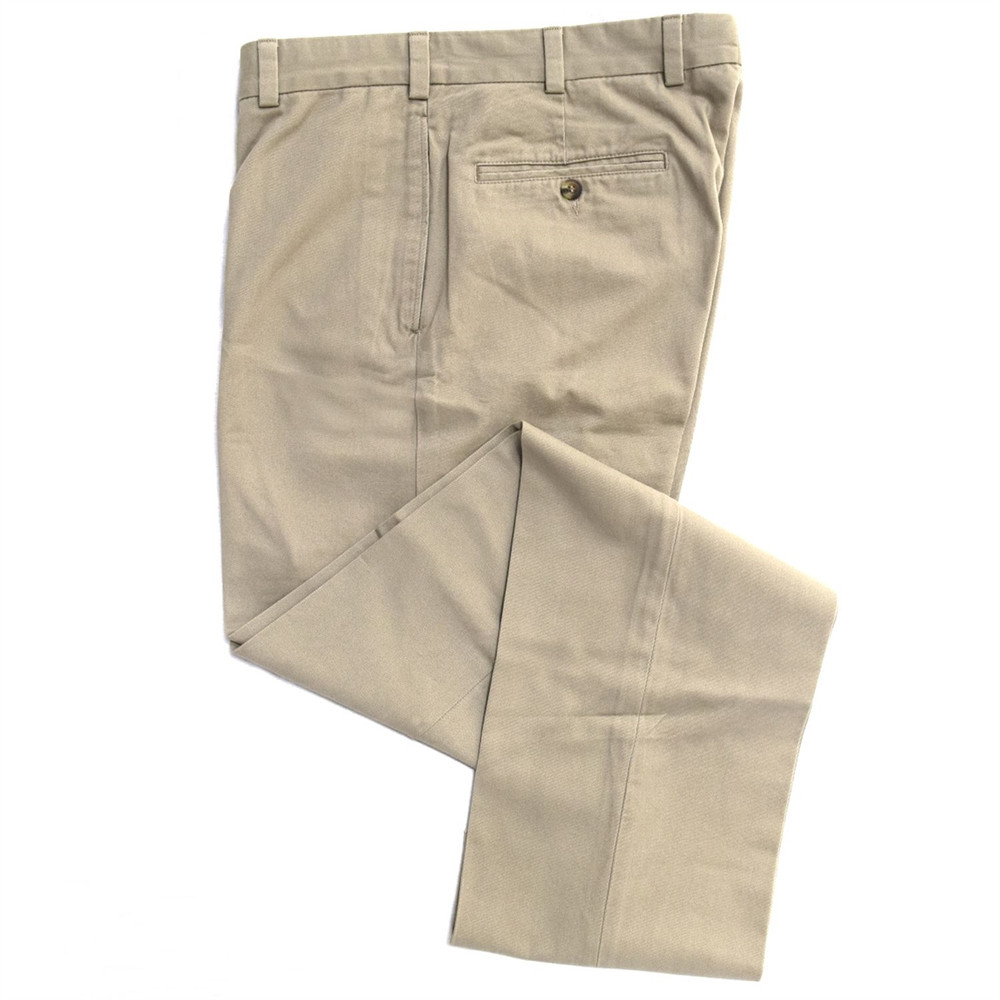 Vintage Twill Pant - Model F1 Relaxed Fit Plain Front in Khaki (Sizes 33 and 39 Only) by Hansen's Khakis