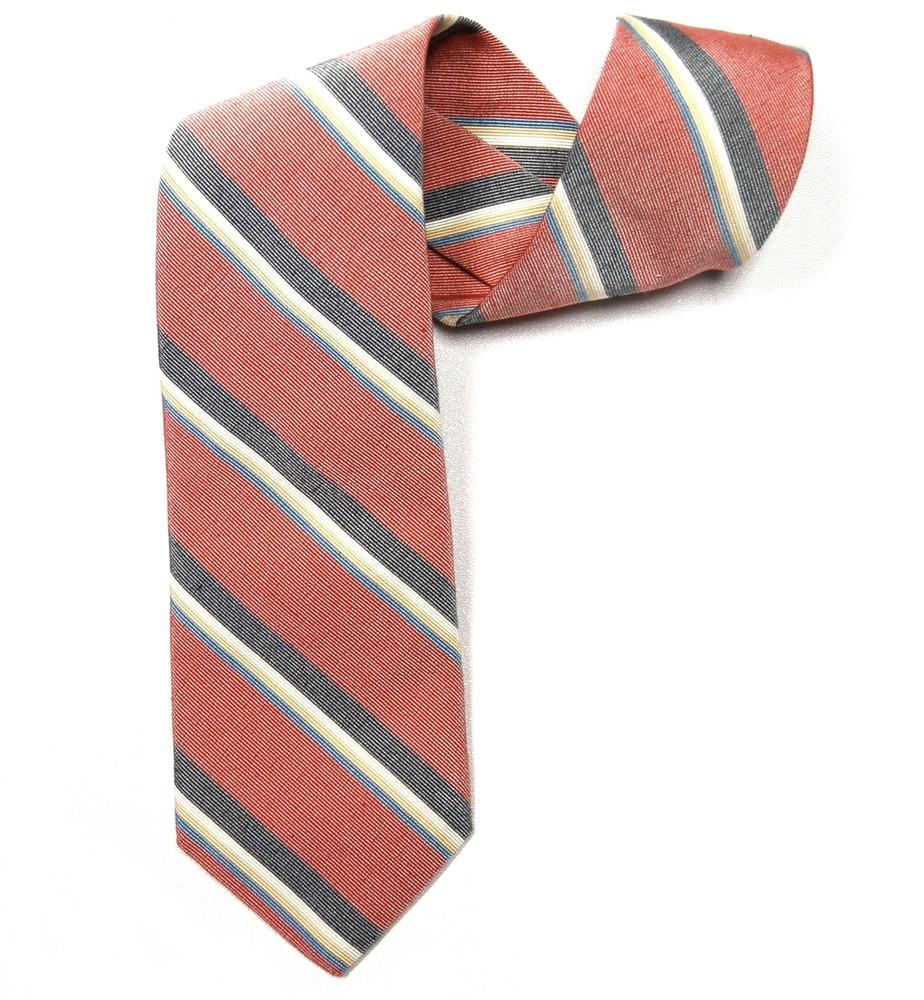 Best of Class Red Stripe 'Laurel Stripe' Woven Cotton and Silk Tie by Robert Talbott