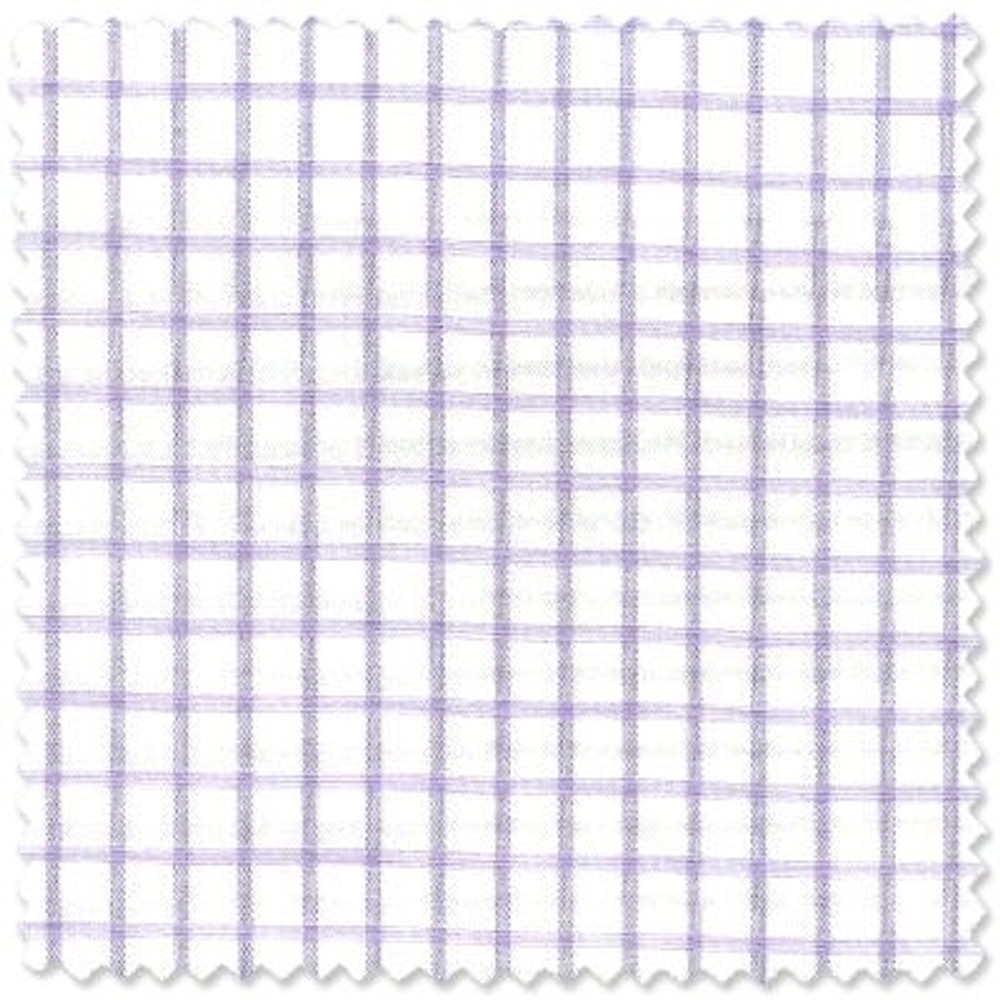 140's Lavender and White 1/4 Inch Check Dress Shirt (Size 16 3/4 - 34 1/2) by Robert Talbott