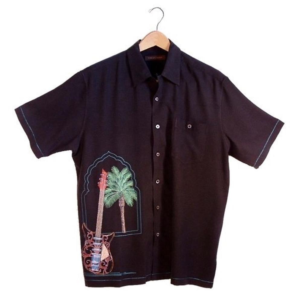 'Rock the Casbah' Silk Resort Shirt (Size Medium) by Tori Richard