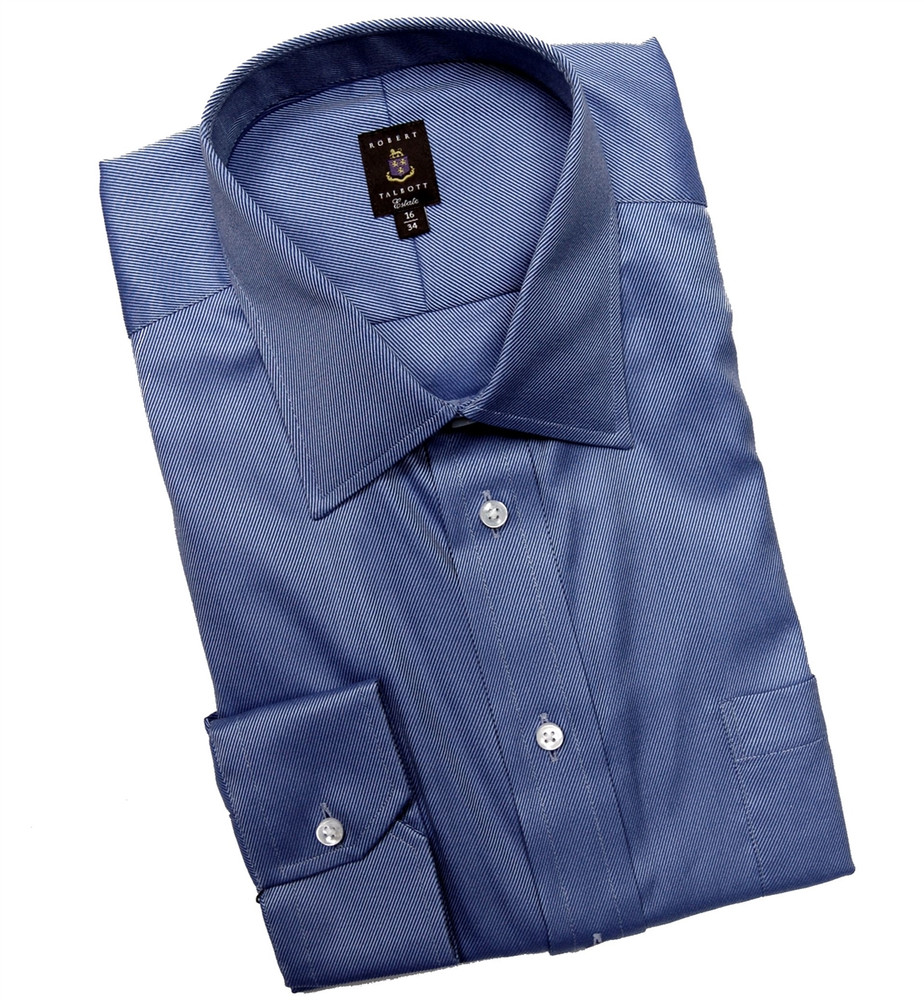 Blue and Sky Twill Stripe Estate Dress Shirt by Robert Talbott
