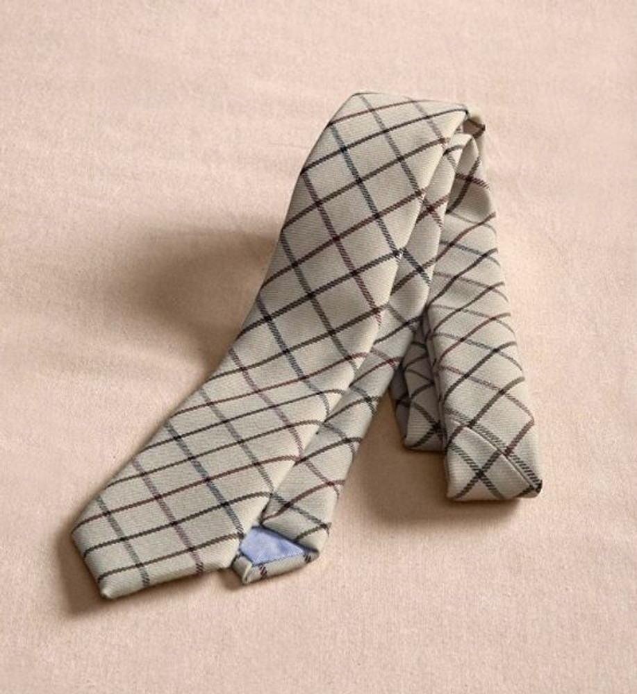 Tan Multi Check Wool Necktie (Thomas Kay Collection) by Pendleton