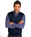 Classic Merino Wool Pullover Vest in Deep Navy by St. Croix