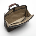 Canady Haversack in Titan Milled Gunmetal and Brown by Moore & Giles
