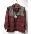 Wool and Wax Cotton Wagoneer Jacket in Red Plaid (Size Large) by Bills Khakis