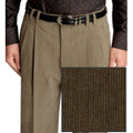 Pleated Wool Blend High Performance Corduroy Trouser in Olive (Size 32 Only) by St. Croix