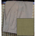 Pleated High Performance Techno-Wool Trouser in Carob (Size 50 Only) by St. Croix