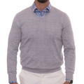 'Pasadera II' Estate V-Neck Cashmere and Silk Sweater in Medium Heather Grey by Robert Talbott