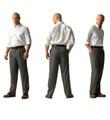 'Lanyard' Double Reverse Pleat Prime Poplin Trousers by Corbin