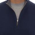 'Harper II' Jersey 1/4 Zip Knit Pullover in Navy by Robert Talbott