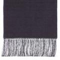Wool Scarf in Grey with Black Windowpane and Grey Silk Fringe by Robert Talbott