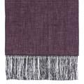 Cotton Scarf in Wine Check with Grey Silk Fringe by Robert Talbott