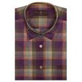 Plum and Olive Plaid 'Anderson II' Sport Shirt by Robert Talbott