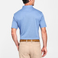 The Perfect Piqué Polo with Self Collar in Avio Blue by Peter Millar