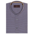 Brown and Sky Check 'Anderson II' Sport Shirt by Robert Talbott