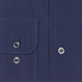 Navy and Blue Check 'Anderson II' Sport Shirt by Robert Talbott