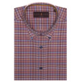 Burgundy Multi Plaid 'Derby' Sport Shirt by Robert Talbott