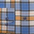 Blue and Orange Plaid 'Anderson II' Sport Shirt by Robert Talbott