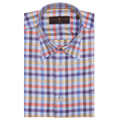 Blue, Purple, and Orange Plaid 'Anderson II' Sport Shirt by Robert Talbott