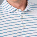Indiana Seaside Stripe Polo Shirt with Pocket in White by Peter Millar