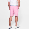 Apex Seersucker Pin Stripe Performance Short in Mambo Pink by Peter Millar