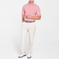 Jubilee Stripe Stretch Jersey 'Crown Sport' Performance Polo with Sean Self Collar in Farmhouse Red by Peter Millar