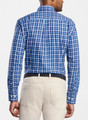 Crown Fleece Stretch Moorland Multi-Gingham Sport Shirt Sport Shirt in Navy by Peter Millar
